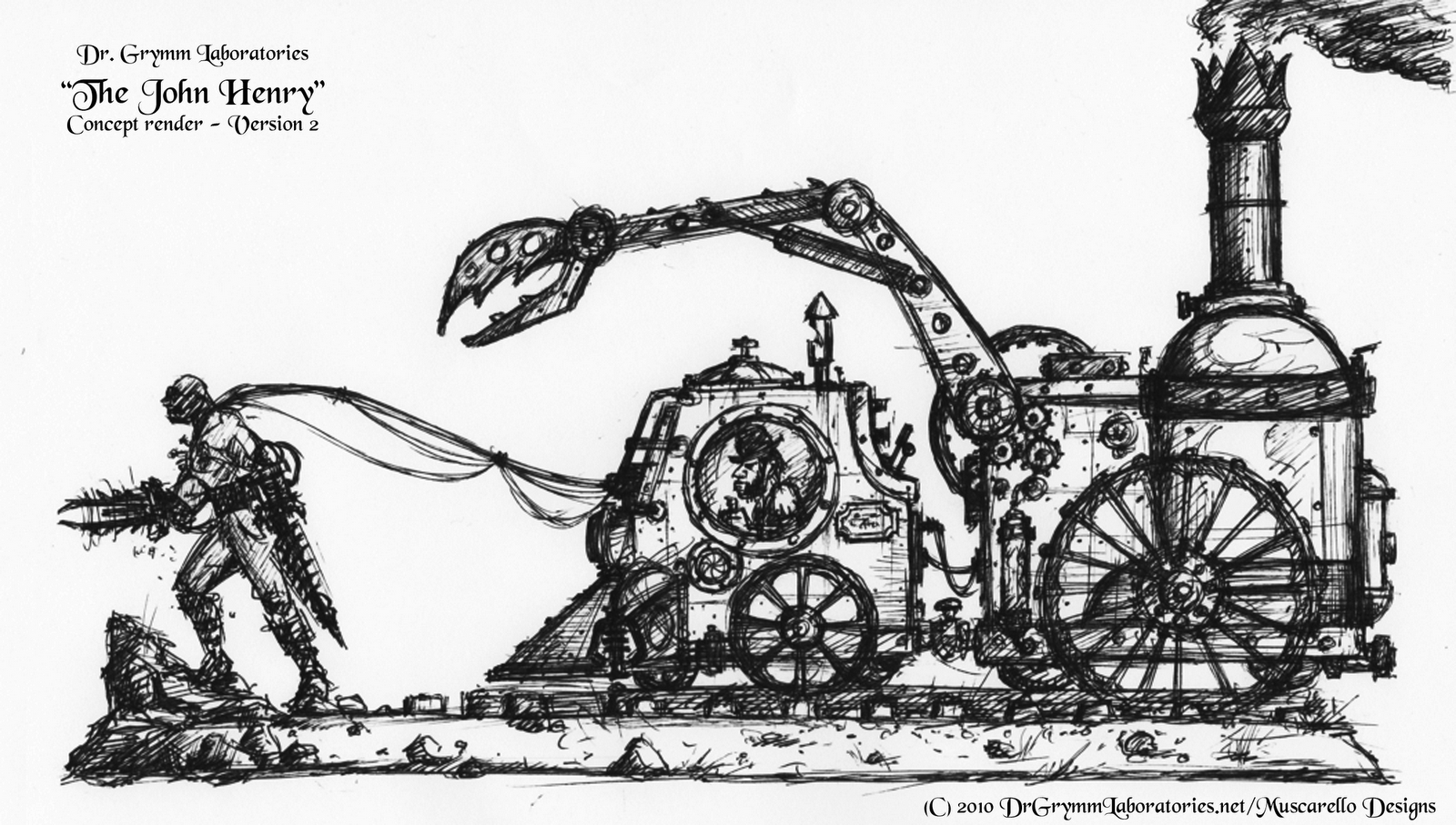 John Henry Steel Driving Man Coloring Page
