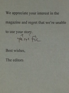 The Kindly Rejection