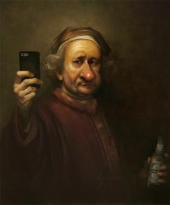 Rembrandt selfie by LoopyDave