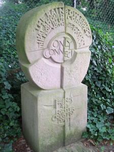 Monument to E.M. Forster in Stevenage, Hertfordshire.